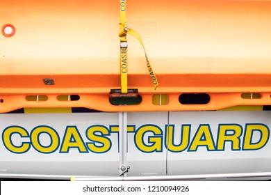 coastguard stretcher orange