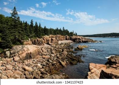 Coastline in Acadia NP, Maine in Summer
