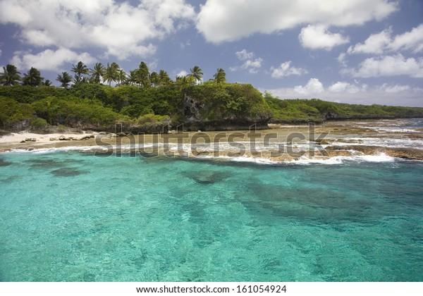 Coastline of Alofi, Niue, South Pacific.