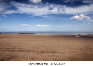 coastline along the yorkshire coast in great britan