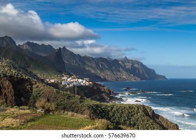 Coastline of Anaga, Tenerife on a beautiful day
