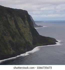 The coastline beyond Waipio Valley, North Kohala, Big Island, Hawaii