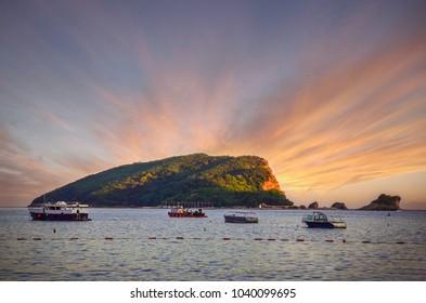 Coastline of Budva, Montenegro