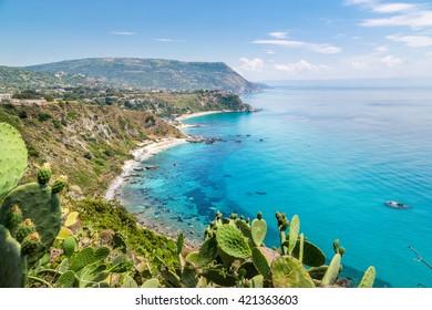 Coastline at Capo Vaticano near Tropea, Calabria, Italy