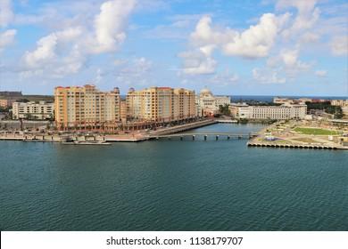 Coastline and city views along Old San Juan , Puerto Rico