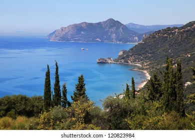 Coastline in Corfu, Greece