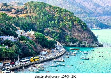 Coastline in Geoje, South Korea. Geoje in the South of South Korea, is a tourist famous city.