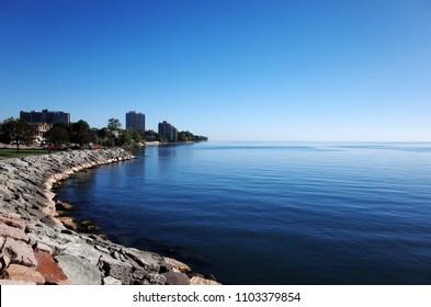 Coastline of Lake Ontario, Burlington, Toronto, Canada