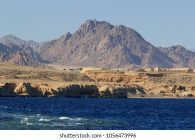 Coastline landscape of Red Sea in Sinai mountians