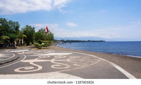 Coastline  Lovina Bali Indonesia