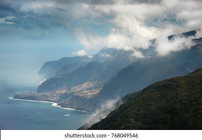 Coastline of Madeira Island,Portugal