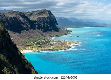 Coastline of Makapuu on Oahu, Hawaii