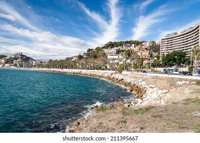 Coastline at Malaga, Andalucia, Spain - Summer time