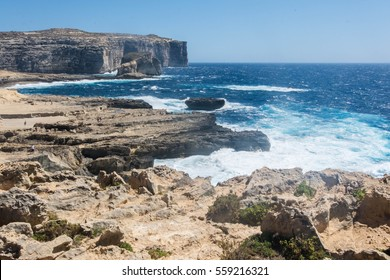Coastline of Malta near the Azure window