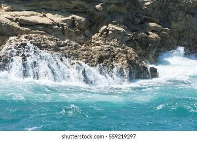 Coastline of Malta, rough water