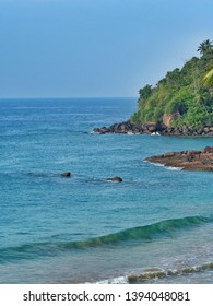 Coastline in Mirissa. Sri Lanka, March 16, 2019