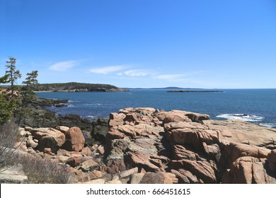 Coastline of Mount Desert Island, Acadia National Park, Maine
