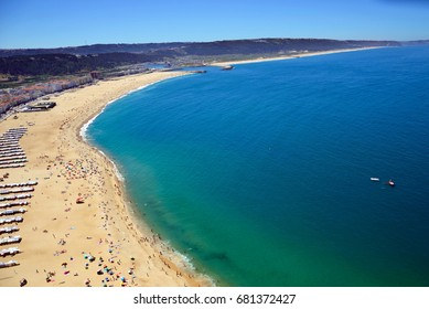 Coastline of Nazare in Portugal
