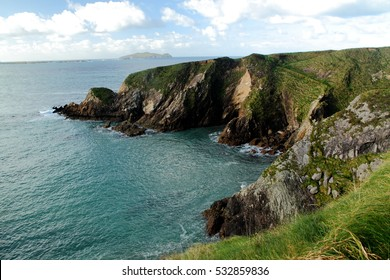 Coastline of North Atlantic Ocean, part of Wild Atlantic Way in Co. Kerry, Ireland