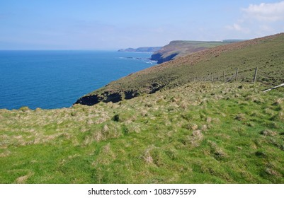 The coastline in the northern part of Cornwall and Devon