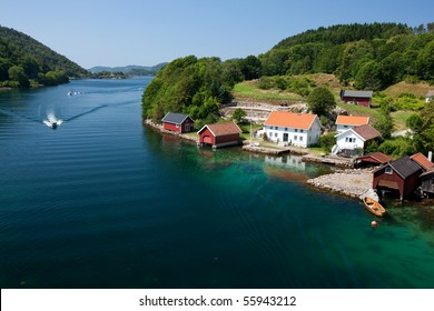 Coastline in Norwegian fjords, Scandinavia, Europe