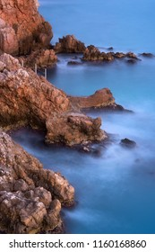 coastline on cap d'antibes
