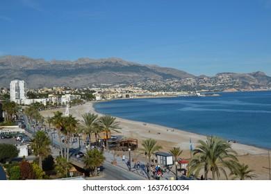 Coastline of Playa del Albir, Spain.