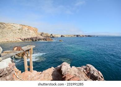 Coastline Pontal da Carrapateira between Amado to Bordeira beach, Algarve Portugal