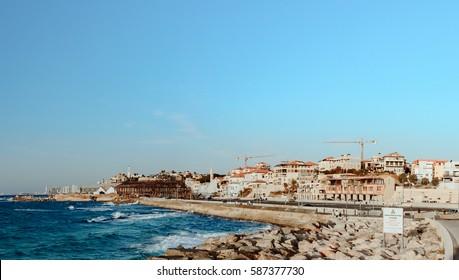 The coastline and port