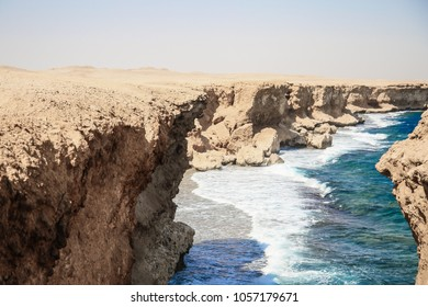 coastline of the Red Sea in Egypt