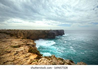 Coastline in Sagres. Portugal