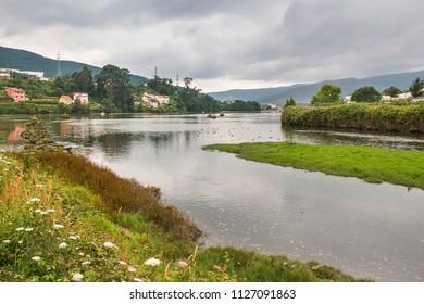 Coastline of San Simon etuary in Redondela town, Galicia
