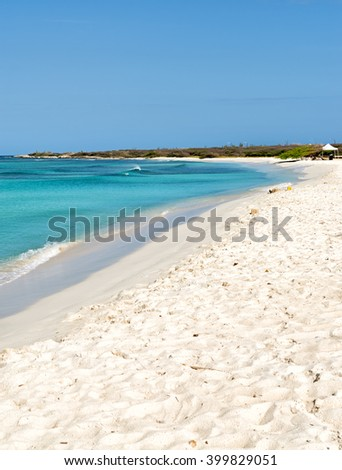 Coastline Secluded White Beach Aruba Caribbean Stock Photo (Edit Now