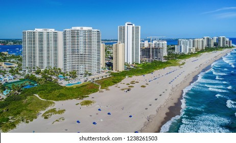 Coastline of Singer Island, Florida, USA.