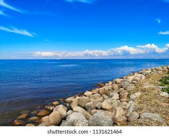coastline and sky