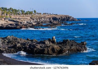 Coastline in the small fishing village of Alcala.  Tenerife. Canary Islands.