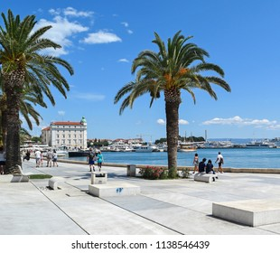 Coastline in Split city, Croatia