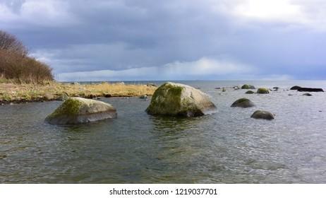 Coastline with stones