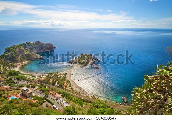 Küste Taormina, Sizilien, Italien