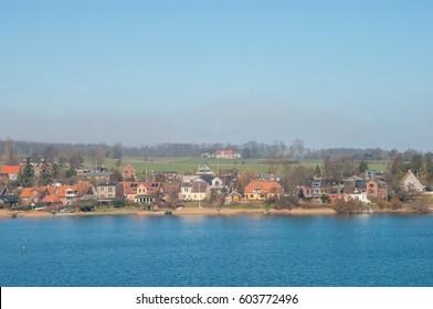coastline of town of Kalvehave in Denmark