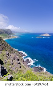 Coastline of Windward Coast on Oahu, Hawaii