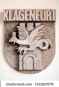 Coat of arms, city of Klagenfurt, Austria.
