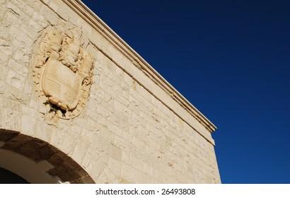 Coat of Arms Detail, Castello di Barletta (Barletta Castle), Apulia, Italy