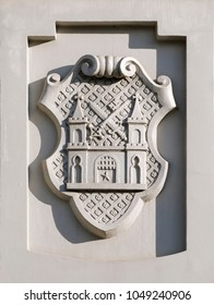 Coat of arms on the front of the House of the Blackheads in Riga