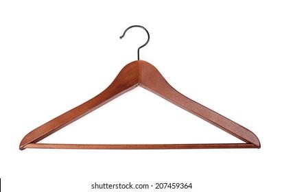 Coat hanger on a white background
