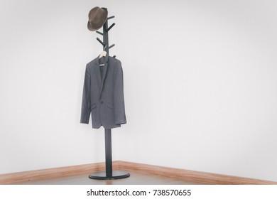 Coat hanger on white background.