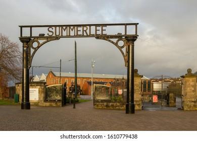 Coatbridge, Scotland - 08 January 2019: Entrance to Summerlee Museum of Scottish Industrial Life