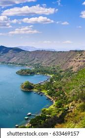 Coatepeque Lake in El Salvador, Central America