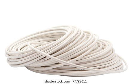coaxial cable on a white background