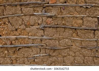 Cob wall front